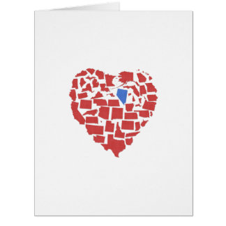 American States Heart Mosaic Nevada Red Card