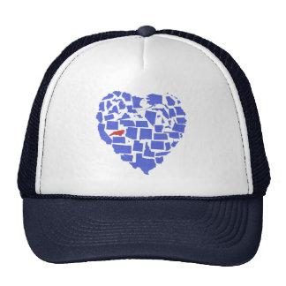 American States Heart Mosaic North Carolina Blue Trucker Hat