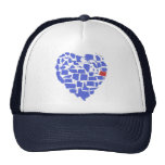 American States Heart Mosaic Oregon Blue Trucker Hat