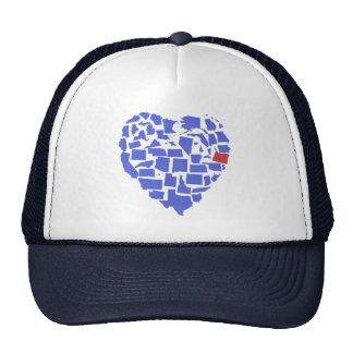 American States Heart Mosaic Oregon Blue Trucker Hat