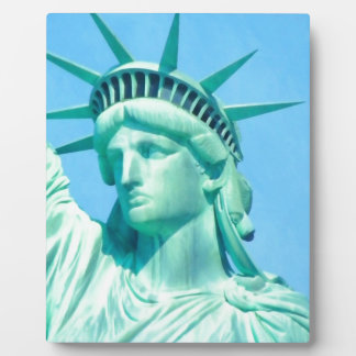 American statue of liberty for freedom art photo plaques