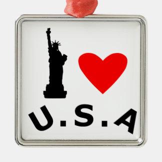 American Statue of Liberty Metal Ornament
