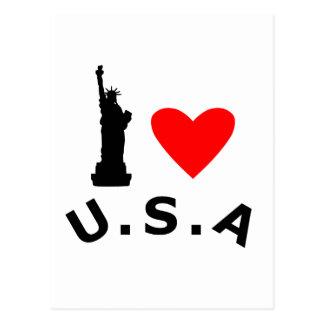 American Statue of Liberty Postcard