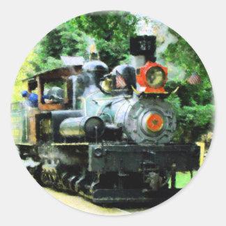 american steam train round stickers