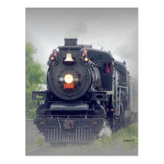 american steamtrain postcard