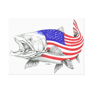 American Steel Head Salmon Canvas Print