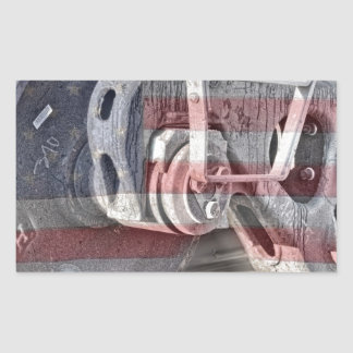 American Steel Rectangular Sticker