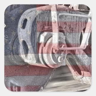 American Steel Square Sticker