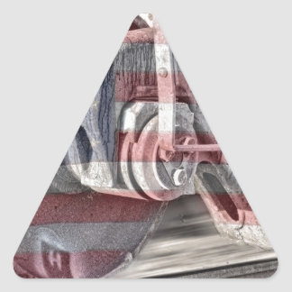 American Steel Triangle Sticker