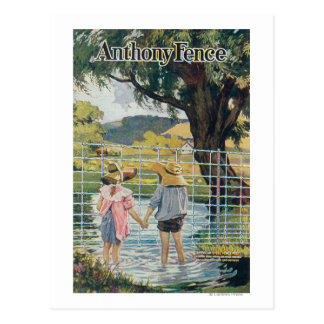 American Steel & Wire Co Fence Pond and Kids Post Cards