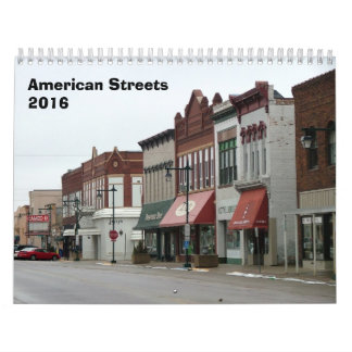 American Streets Calendar - 2016