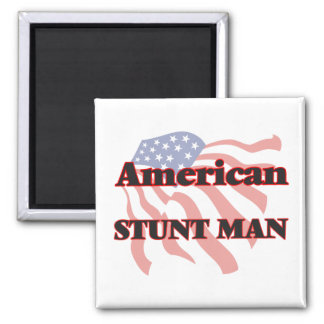 American Stunt Man 2 Inch Square Magnet