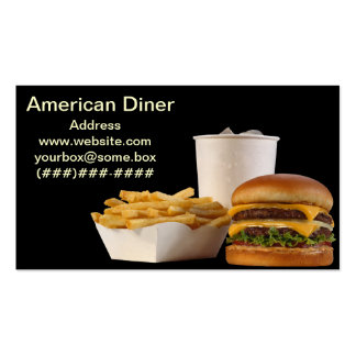American Style Diner Business Card