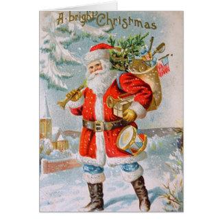 American Style Patriotic Santa Conde Nast Card