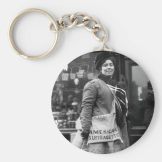 American Suffragette, 1910 Basic Round Button Keychain