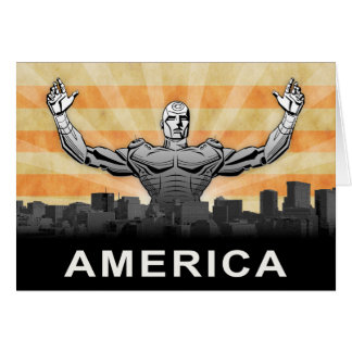 American Super Hero Card