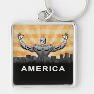 American Super Hero Keychain