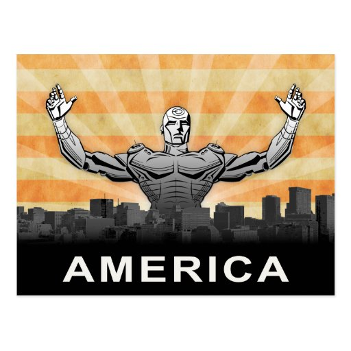 American Super Hero Postcard
