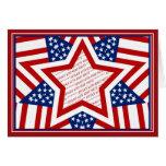 American Super Star Photo Frame Greeting Card