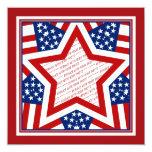 American Super Star Photo Frame 5.25x5.25 Square Paper Invitation Card