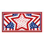 American Super Star Photo Frame Picture Card