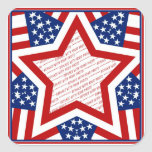 American Super Star Photo Frame Sticker