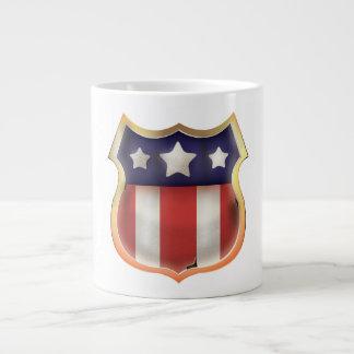 American superhero Logo Large Coffee Mug