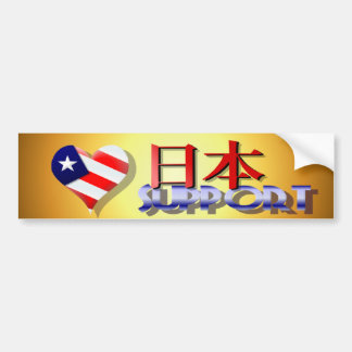 American Support Japan Bumper Stickers