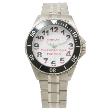 American Support Our Troops Custom Watch