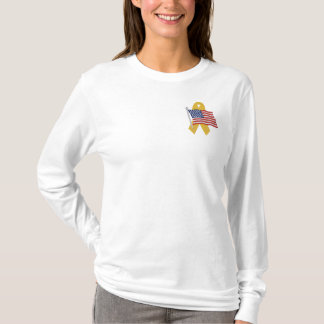 American  - Support Our Troops Embroidered Long Sleeve T-Shirt