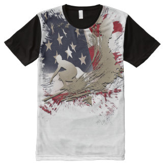american surf All-Over print t-shirt