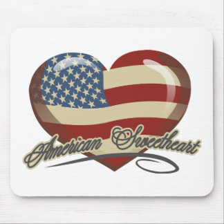 American Sweetheart Heart Mouse Pad