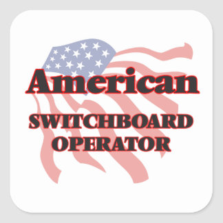 American Switchboard Operator Square Sticker