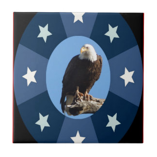 American symbol standing for freedom and strength tile