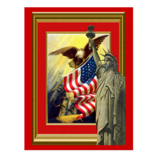 American symbols postcard