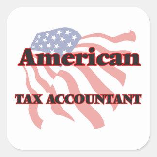 American Tax Accountant Square Sticker