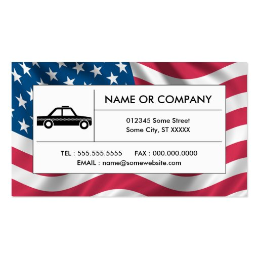 american taxi cab business cards