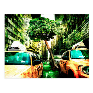 American Taxi Style Postcard