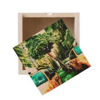 American Taxi Style Wooden Keepsake Box