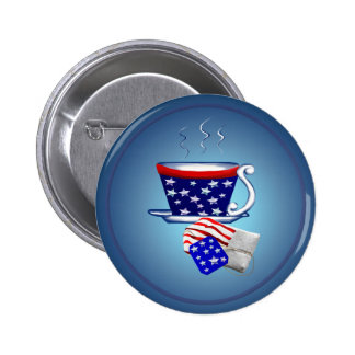 American Tea Cup and Bag Button