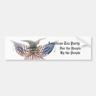 American Tea Party 2012 Bumper Sticker Bald Eagle
