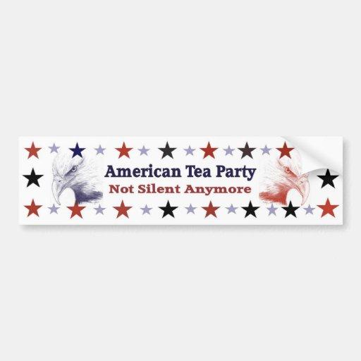 American Tea Party Political Gear Car Bumper Sticker