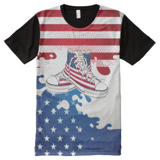 American Teens Patriotic All-Over Print Shirt