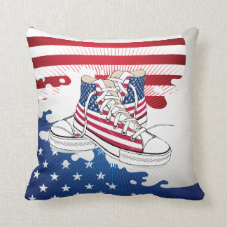 American Teens Patriotic Shoes Pillow