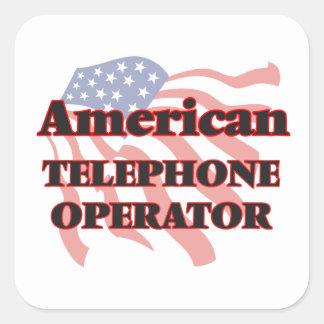 American Telephone Operator Square Sticker