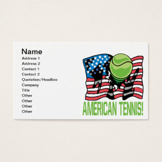 American Tennis Business Card