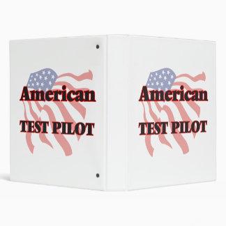 American Test Pilot Vinyl Binder