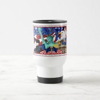 American Themed Travel Mug Template