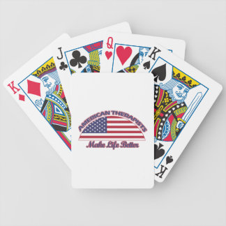 american Therapists designs Bicycle Playing Cards