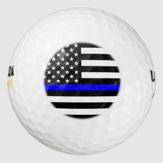 American Thin Blue Line Decor Golf Balls